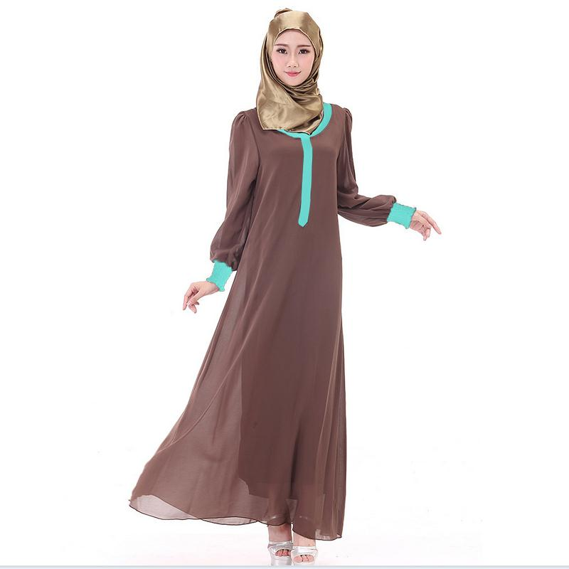 2018 Limited-Promotion Adult Fashion Abaya Abayas Muslim Printed two-piece  Clothing Female Islamic Arab Chiffon Dress W569 358273d711e6