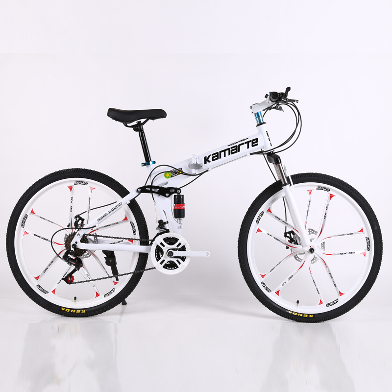 26inch folding mountain bike 21 speed Two-disc brake bicycle 10 knife wheel mountain bike  folding bicycle Suitable for adults26inch folding mountain bike 21 speed Two-disc brake bicycle 10 knife wheel mountain bike  folding bicycle Suitable for adults