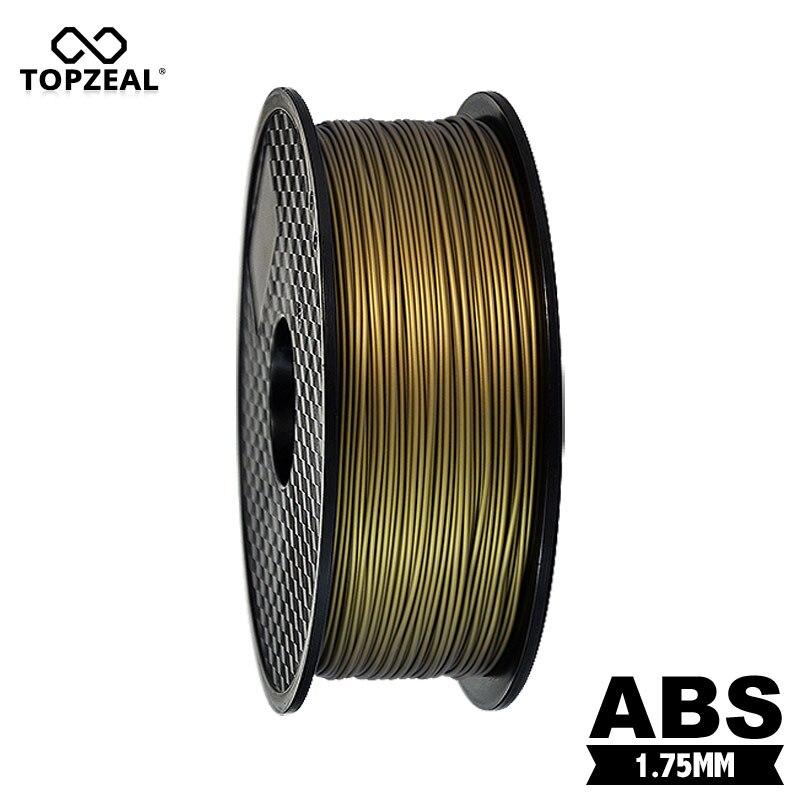 Couleur de Bronze de matériaux de Filament d'abs de 1.75mm 1KG d'imprimante de la marque 3D de qualité supérieure de TOPZEAL