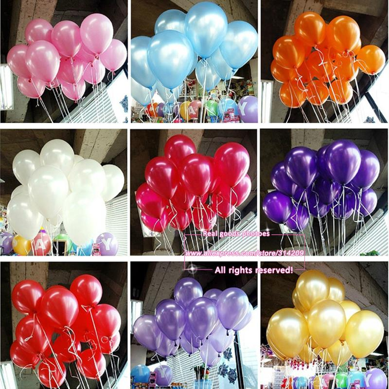 New 50pcs lot 10inch 1.2g pcs Latex Balloon Helium Thickening Pearl Celebration Party Wedding Birthday Decoration Balloon