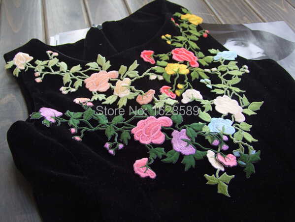 Shabby chic flowers beautiful rose flower embroidery simply
