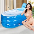 Água beleza espessamento banheira inflável banheira dobrável adulto banheira banho barril de plástico para crianças FRETE GRÁTIS