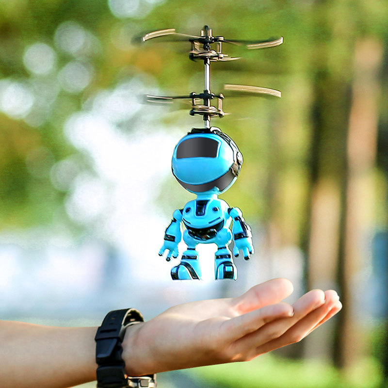 Intelligent Hand Sensing Flying Robot Kids Toys Electronic Aircraft Suspension Toys For Child Smart Pet Action RC Robot With USB