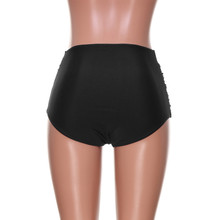 2019 Sexy bikinis women Bikini Women's High Waisted Swim Bottom Ruched Bikini Tankini Swimsuit Briefs Plus Size2