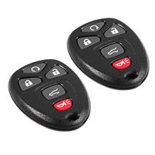 2Pcs 5 Buttons Car Remote Start Keyless Entry Key Fob Clicker Control For GMC Chevrolet 15913415 OUC60270 Replacement Shell