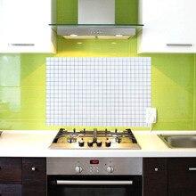 Cokytoop Mosaic Waterproof Anti Oil Wall Sticker Cartoon Aluminium Foil Kitchen Splatter