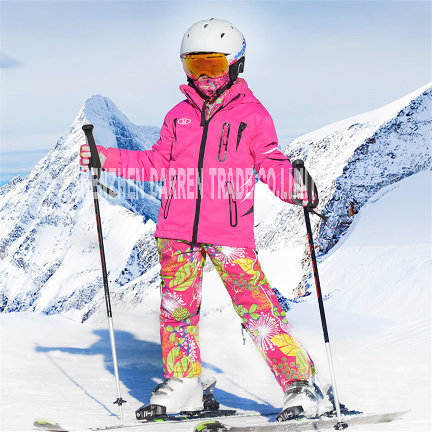 New winter suit children ski wear 2017 clothing set windproof ski jackets+pant children girls boys outdoor warm suit snow sets