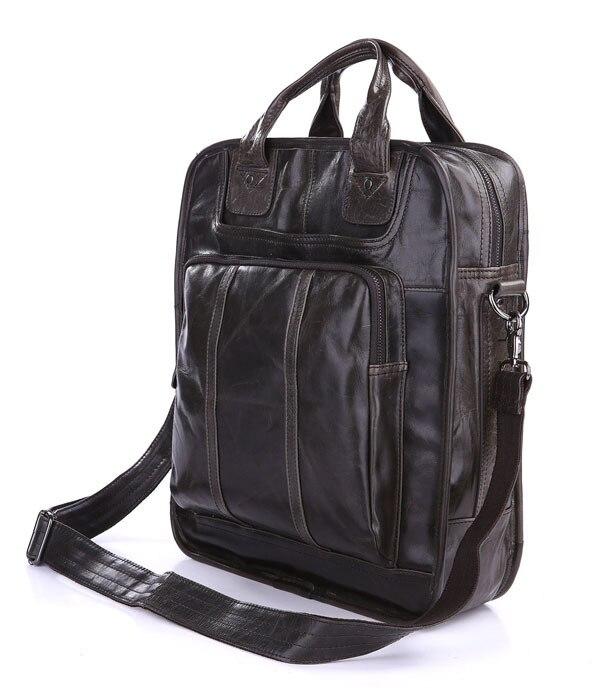 JMD Retro Style Real Leather Backpacks Shoulder Bag For Men 7168J vintage leather style dark gray cool backpacks shoulder bag nice hiking backpack bag 7168j