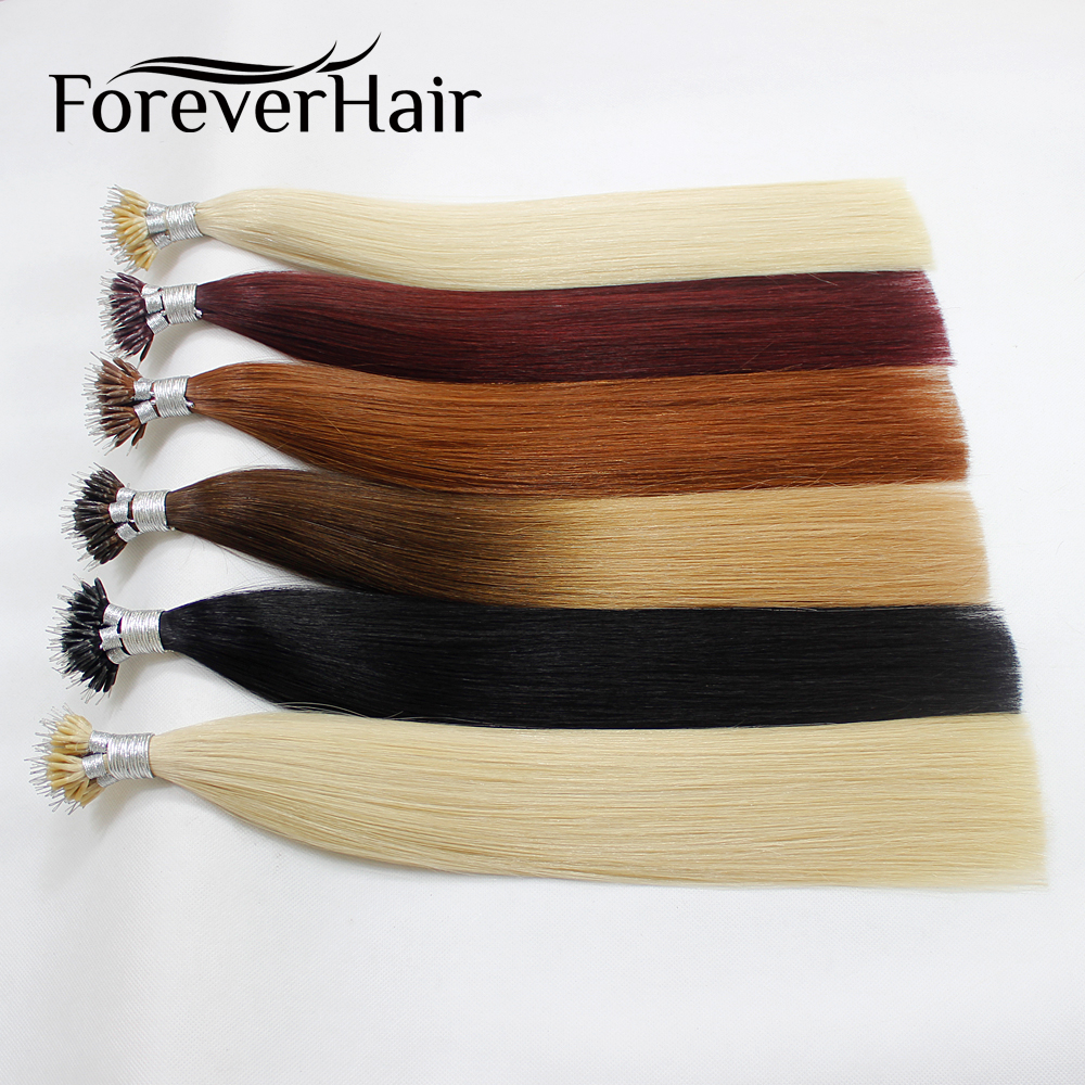 FOREVER HAIR European Straight Keratin Micro Beads Matu 0.8g / s 16 - Cilvēka mati (baltajiem) - Foto 3