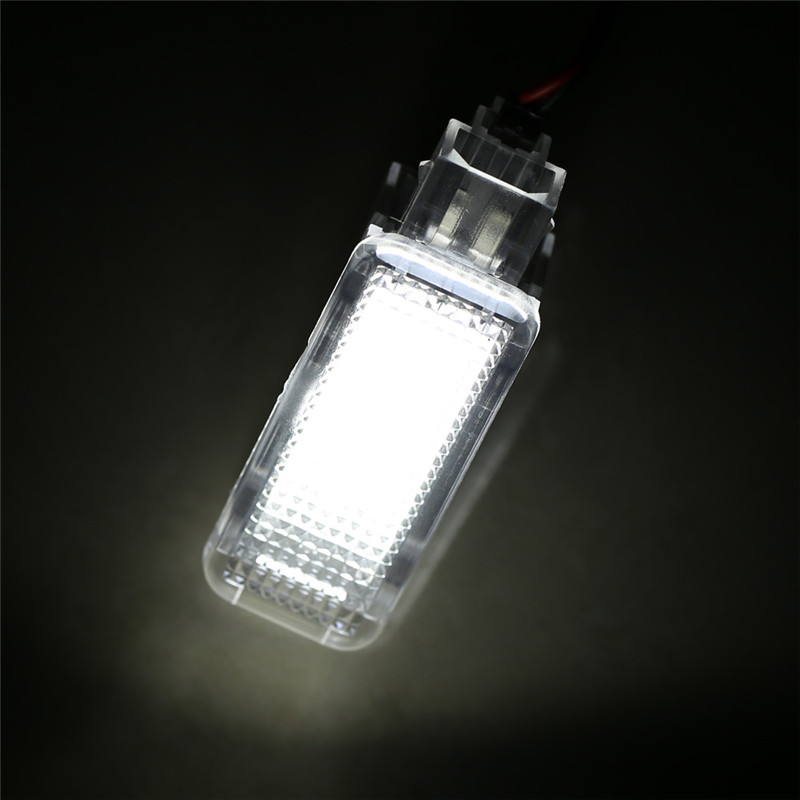 2pcs Car Light Auto Cars LED Door Welcome Interior Light Courtesy Lamp Lights Under Door Footwell for Audi A3 A4 A6 A8 Q7 Q5