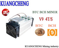 KUANGCHENG 16nm AntMiner V9 4T S Bitcoin Miner NO PSU Asic Miner Use BTC BCH BCC