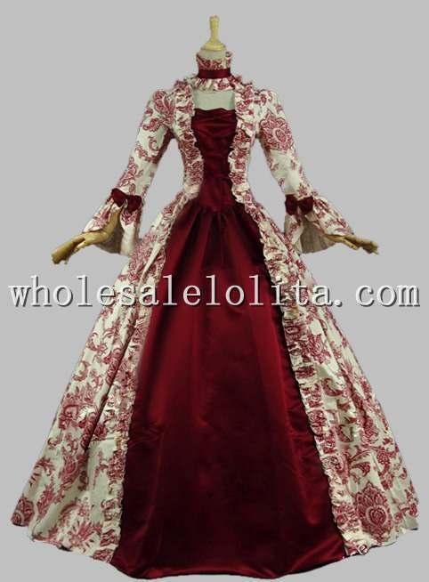 Best Seller Vintage Print Dress Vestido del siglo XVIII Marie - Disfraces - foto 4