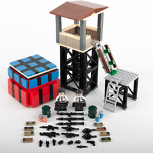 MOC City House Model Block PUBG SWAT Figures Army Military Soldier Weapon Building Blocks  Accessories