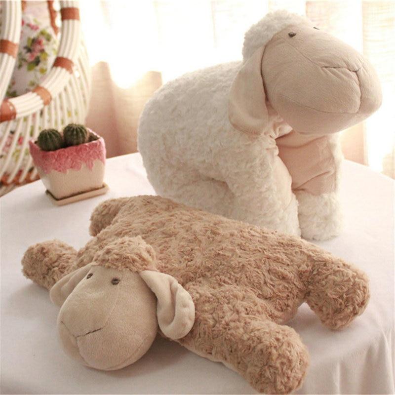 Export Korea Lamb Folding Pillow Plush Sheep Stuffed Animal Plush Simulation Lamb Changeable Doll Toys For Children Room Decor