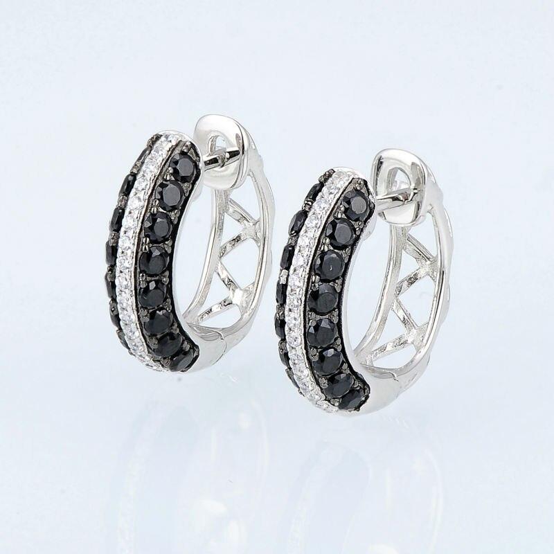 E306865BSNZSK925-SV4-Silver Earrings