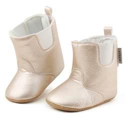 Зимние Обувь для младенцев Обувь для малышей Новинка, из PU искусственной кожи Детская мода Сапоги и ботинки для девочек детские Обувь для