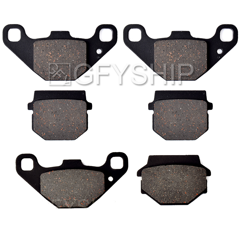 For YAMAHA YFM 300 B Grizzly 2012 2013 D Motorcycle Front Rear Brake Pads Disks