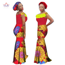 2018 african cotton clothing traditional dresses for women new Design dashiki  long straight ankle-length dress plus size WY1588 e251279d3fa2