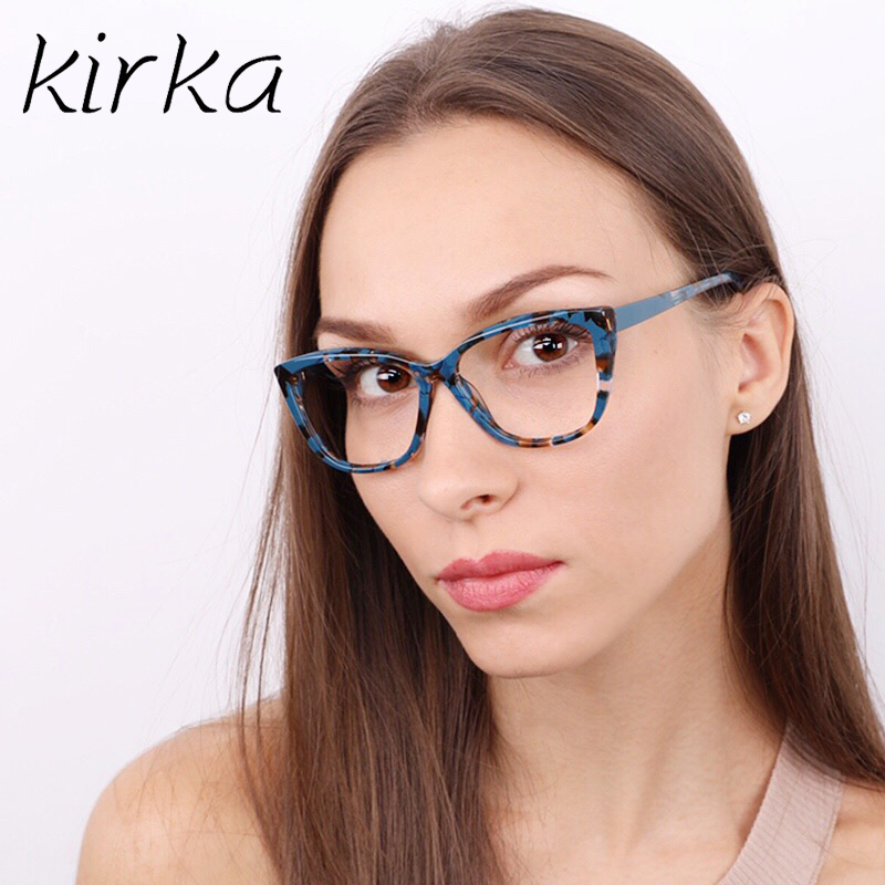 4bc87c75ec Kirka Cat Eye Frame Eyeglass Women Frame Acetate Clear Fashion Glasses  Frame Optical Women Reading Glasses