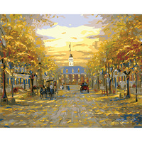 With Frame Pictures Painting By Numbers DIY Digital Oil Painting Christmas Decoration Gifts Roman Style Classic
