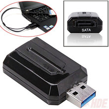 New arrivel Super Speed USB 3.0 to SATA Converter Adapter External  Bridge for 2.5 3.5 HDD Hard Disk Drives Black