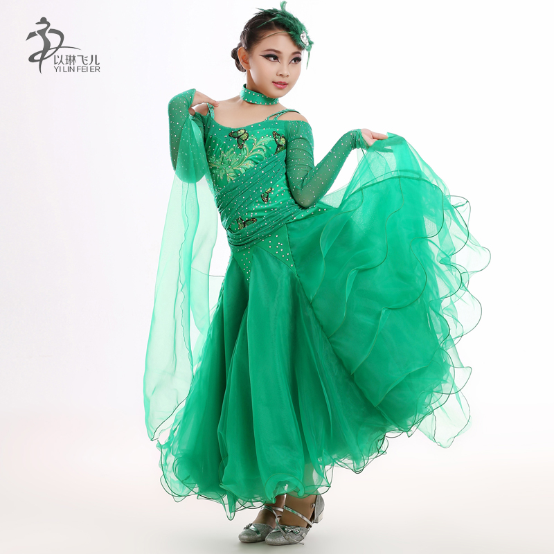 2cd1a3949670 Good 2017 Led Costume Real Sale Ballroom Dance Dress Newest Design Kid Girl  Modern Waltz Tango Dress/standard Competition Fy095 offers where can We  purchase ...