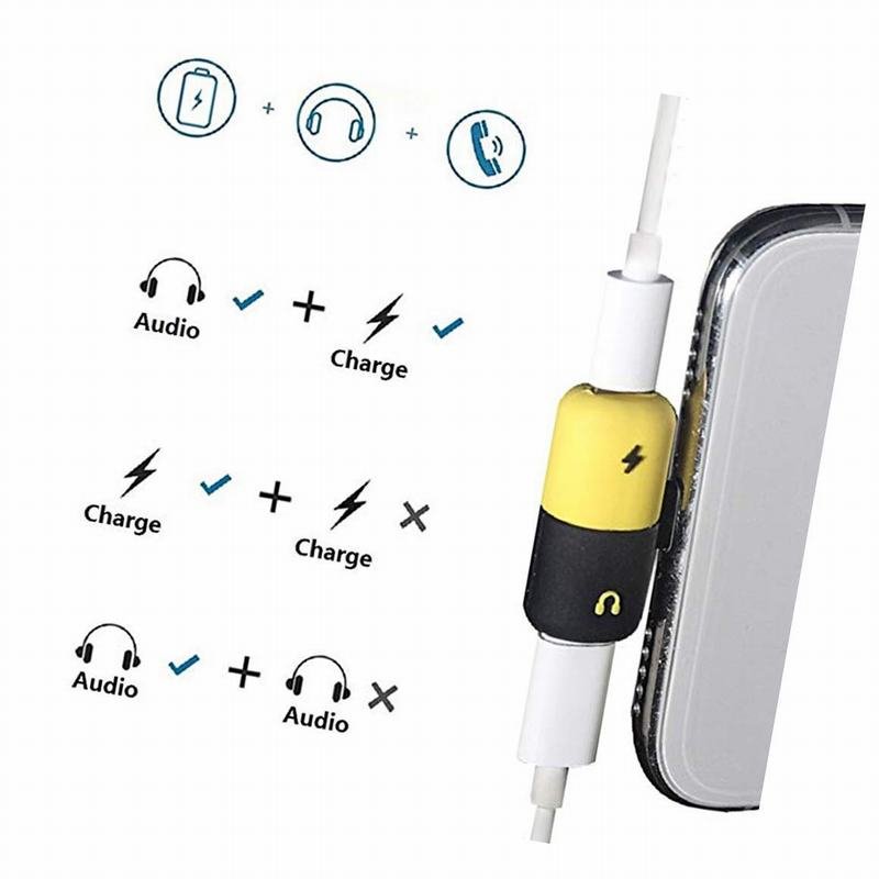 Hsmeilleur-8-Pin-Dual-Splitter-Adapter-Headphone-Jack-Adaptor-For-iPhone-XS-max-XR-X-8-8Plus-7-Plus-Mini-Audio-Charge-Adaptateur (12)