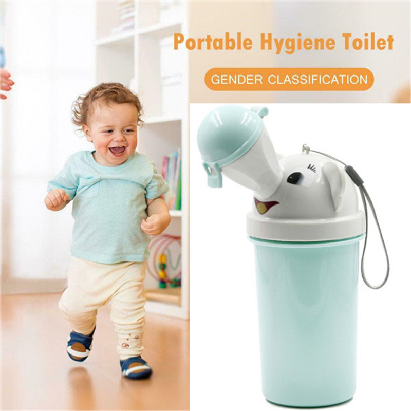 Cute Baby Kids Boy Girls Portable Urinal Travel Car Toilet Vehicular Potty Train(China)