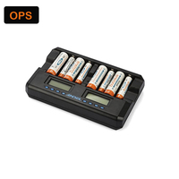 Dual LCD display 8 slots AA/AAA NI MH NI CD battery charger for Rechargeable battery &repair and activation function