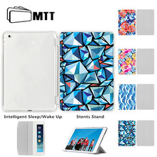Para iPad 9,7 ''5 6 Mini 2 3 4 5 funda de 2019, funda inteligente de cuero MTT para nuevo iPad Pro 11'' 12,9 ''2018 Air 10,5'' para iPad 234(China)