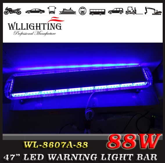 free shipping 12V 24V 47 inch 88 LED Emergency Recovery LightBar Wrecker Flashing LightBar Beacon Strobe