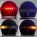ITimo 2.4G Wireless Universal Brake and Turn Signal Light 8 LED Helmet Lamp Motorcycle Accessories Warning Light