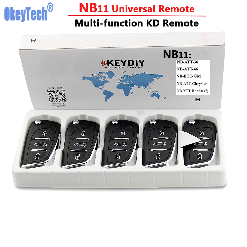 OkeyTech 5PCS LOT KD900 Remote Key Universal NB11 DS Remote Key 3 Buttons For Keydiy KD900
