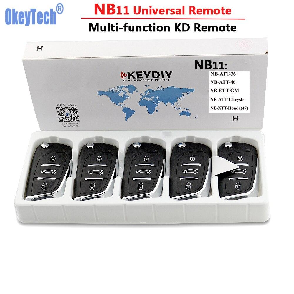 OkeyTech 5 PCS/LOT KD900 télécommande clé universelle NB11 DS télécommande 3 boutons pour Keydiy KD900 KD900 + URG200 Mini KD télécommande