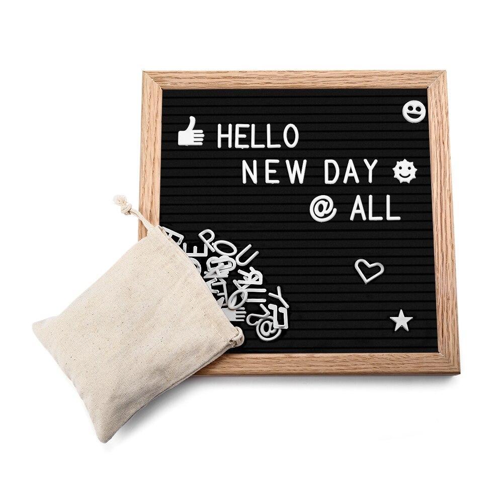 2018 precioso mensaje madera fieltro calendario moderno desmontable ajustable 340 letras regalo creativo para la familia y amigos