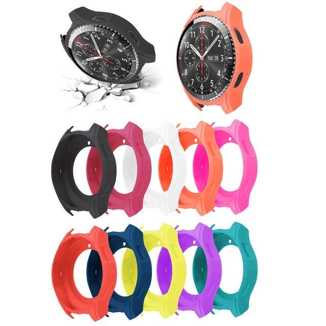 ad5c6643847 Shock Proof Watch Shell for Samsung Galaxy Watch 46mm Silicone Protective  Cover for Samsung Gear S3 Frontier R760 Case Strap