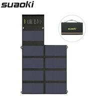 Suaoki SM B9123 двойной выход портативный 60 Вт складная солнечная панель зарядное устройство солнечный мобильный power Bank для телефона автомобильны