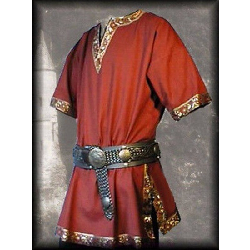 Details about  /Medieval Renaissance Men Long Top Aristocrat Knight Viking Cosplay Costume Armor