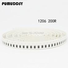 100PCS 1206 SMD Resistor  200 ohm chip resistor 0.25W 1/4W 200R 201