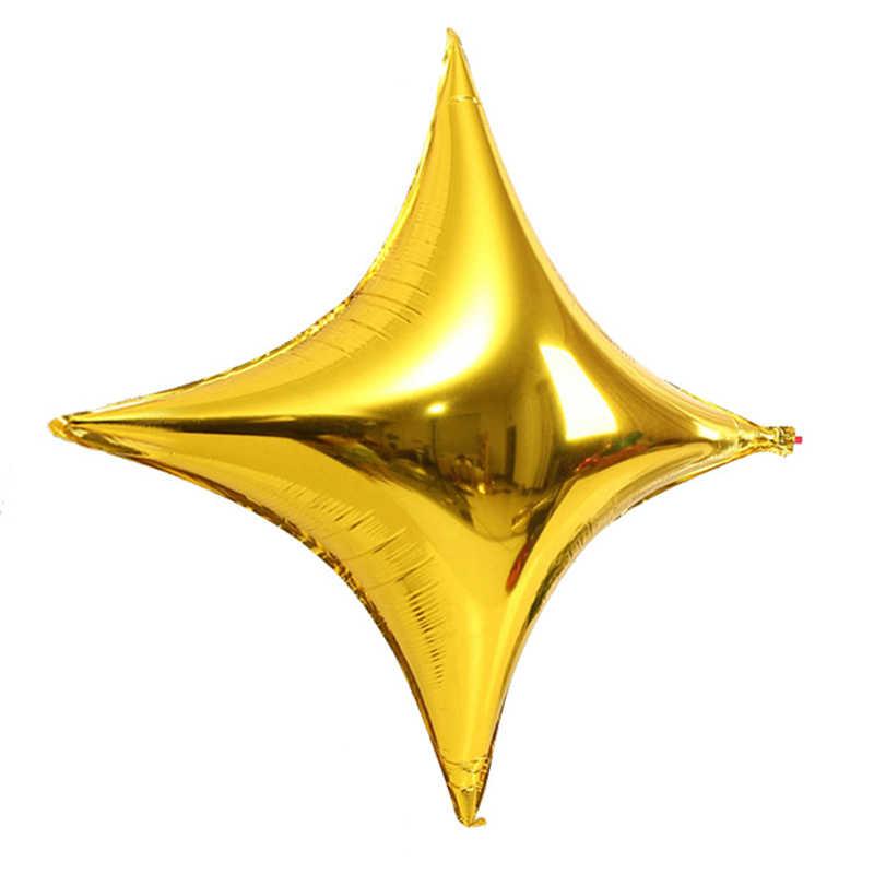 1 шт. шар из фольги в форме звезды четыре звезды День рождения воздушные шары торговый центр для украшения детского душа Globos счастливый новогодний Свадебный шар Декор