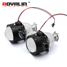 "ROYALIN Bi Xenon HID H1 Mini Projector Lens 2.5"" Auto Headlight Halogen Lens Hi/Lo Beam for H4 H7 Car Styling Bulb Retrofit DIY"