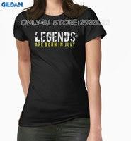 Gildan Only4U Fashion Summer Paried T Shirts 100 Cotton Women Crew Neck Legends Are Born In