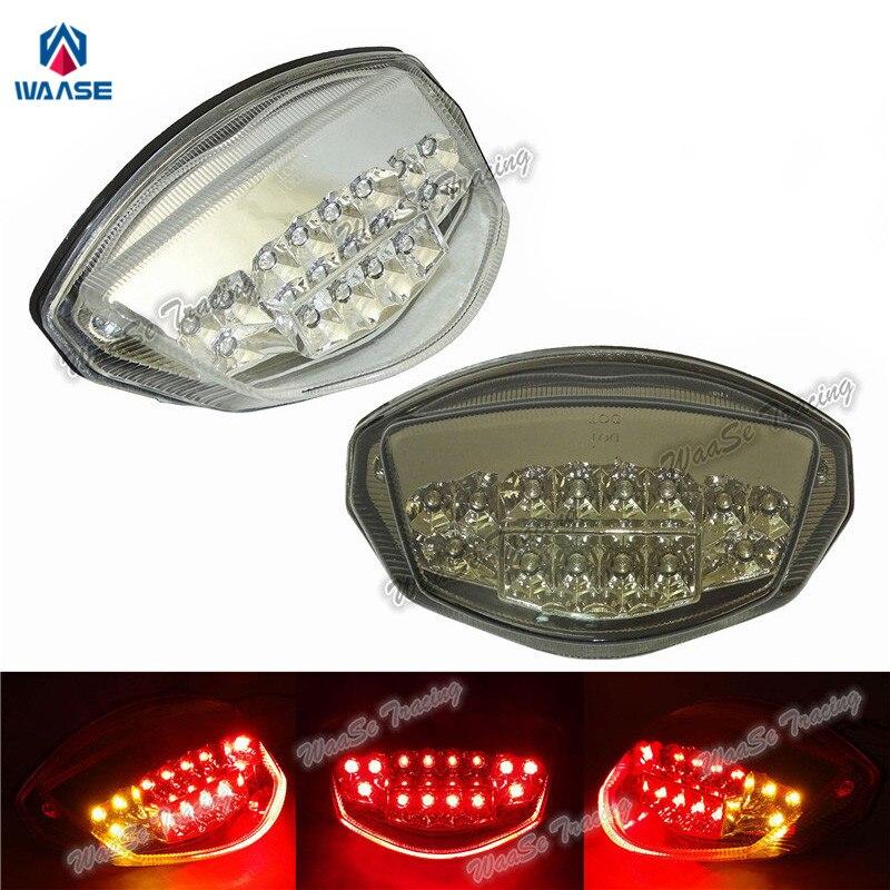 Waase For Suzuki GSR750 GSR 750 2011 2012 2013 2014 2015 2016 2017 Rear Tail Light Brake Turn Signals Integrated LED Light