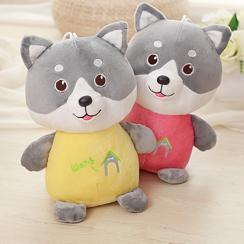 1pc 30/40/50cm 2 Patterns Standing Husky Doll cute cartoon Dog Pillow plush crammed toy dog Baby Soothe Doll Kids Birthday Gift