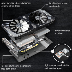Image 5 - MAXSUN graphics card GTX 1660 Terminator 6G 192bit NVIDIA GDDR5 8000MHz 1530 1785MHz HDMI+DP+DVI desktop video card for gaming