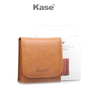 Image 3 - Kase 3 bolso couro do plutônio câmera dobrável circular lente filtro carry caso saco bolsa para 25mm 82mm filtros