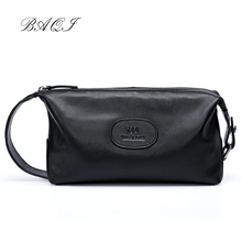 BAQI Brand Men Handbags High Quality Genuine Leather Cowhide 2019 Fashion Day Clutches Men Bag Casual Designer Ipad Phone Bag new brand esloth for ipad genuine leather bag high quality fashion female bag 30cm 30cm 14cm nb58