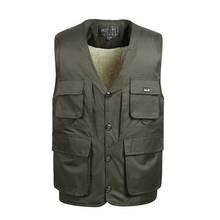Zozowang loves solid stand collar zipper loose plus size autumn winter vest men short fashion keep warm waist coat