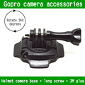 Go Pro Hero 4 Аксессуары 360 Градусов Клей Изогнутые Шлем Крепление для Штатива с Наклейкой для Камеры Gopro HD Hero3 +/3/2/1 SJ4000