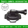 Go pro accesorios hero 4 360 grados adhesivo casco curvo trípode de montaje con adhesivo para gopro hd cámara hero3 +/3/2/1 sj4000